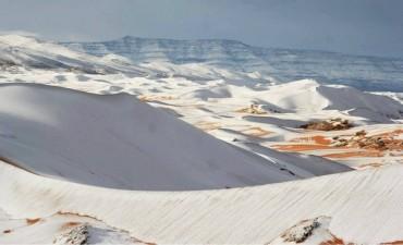Ta loco el tiempo:  fotos del desierto del Sahara nevado