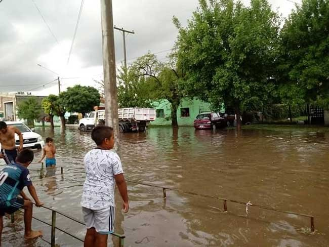 Winifreda: un aguacero de 70 milímetros en media hora