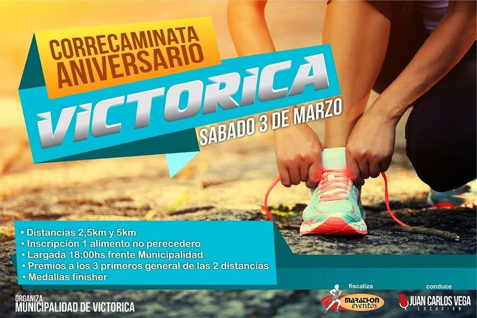 Victorica se prepara para la Correcaminata Aniversario