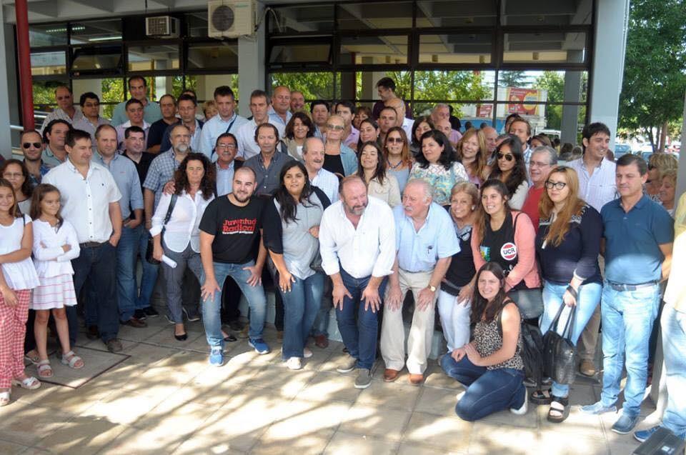 Los funcionarios Municipales de Victorica, Gloria Cazanave y Luciano Maceda apoyaron a Lercari