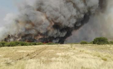 Se activó el foco de incendio en La Adela. Alertan sobre posible intencionalidad