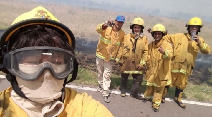 Bomberos de Victorica y Luiggi están en la zona de los incendios