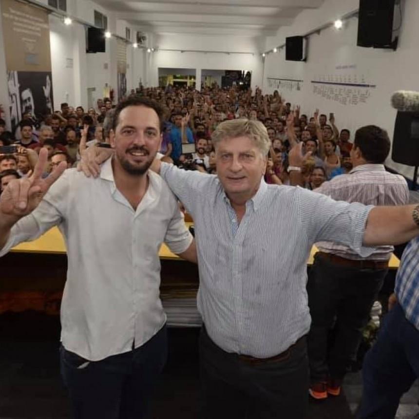 Ziliotto saludo a Di Napoli
