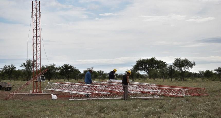 Comenzó la instalación de antena de Telecomunicaciones en El Durazno