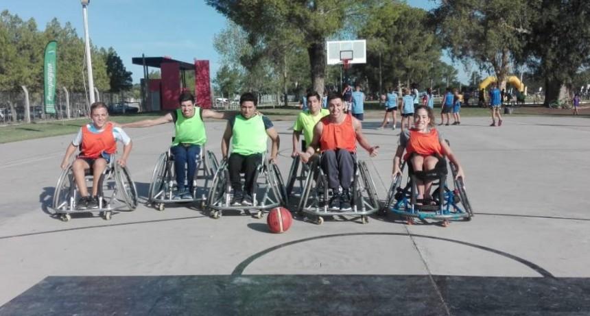 El deporte adaptado se hizo presente en los Juegos Deportivos de Verano