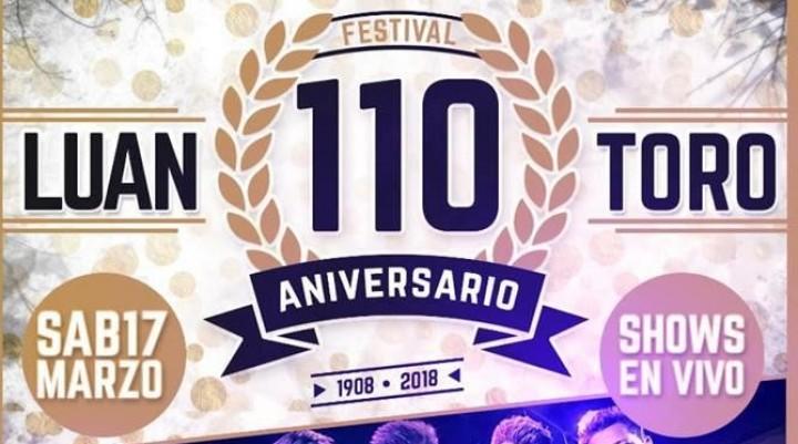 LUAN TORO: SE VIENE EL FESTEJO DEL 110° ANIVERSARIO
