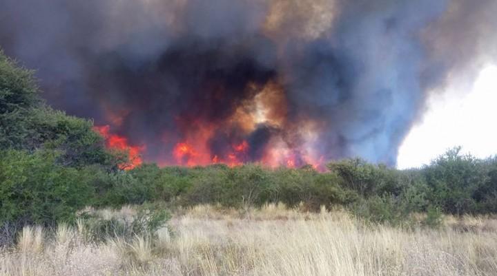 Dos Incendios: el primero corto ruta 10  cerca de Telen y el otro en Carro Quemado
