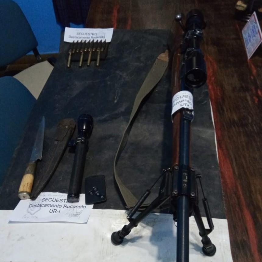 Castex: Demoraron a un cazador de Luan Toro, secuestraron armas y un automóvil