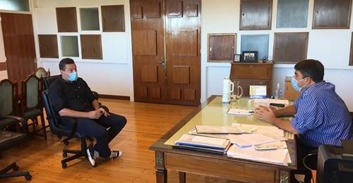 El Concejal Diego Díaz (FREJUPA) se reunió con el Ministro de Gobierno Pablo Bensusán