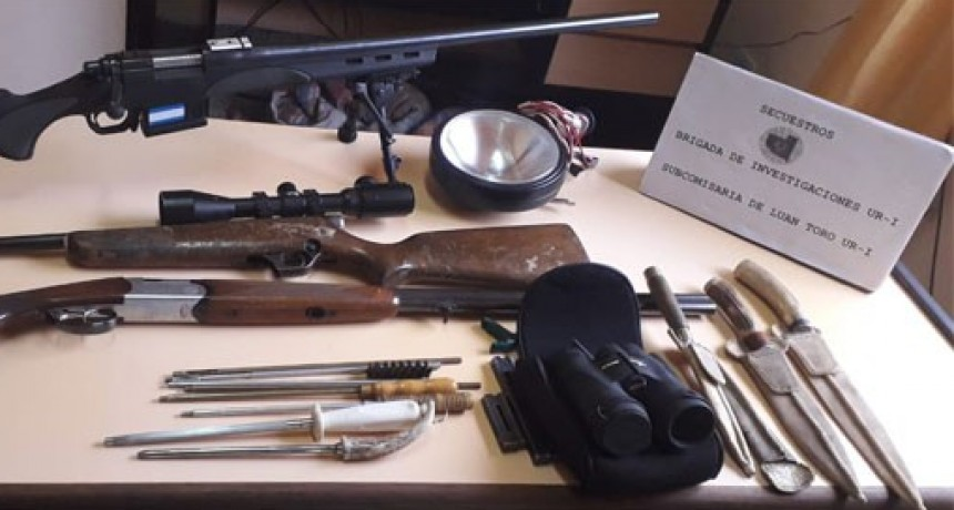 LUAN TORO: Recuperaron armas robadas en un campo de Ataliva Roca