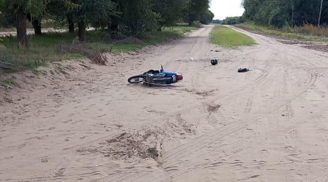 VICTORICA: MENOR DE EDAD FUE TRASLADADO A SANTA ROSA LUEGO DE ACCIDENTE EN UNA MOTO