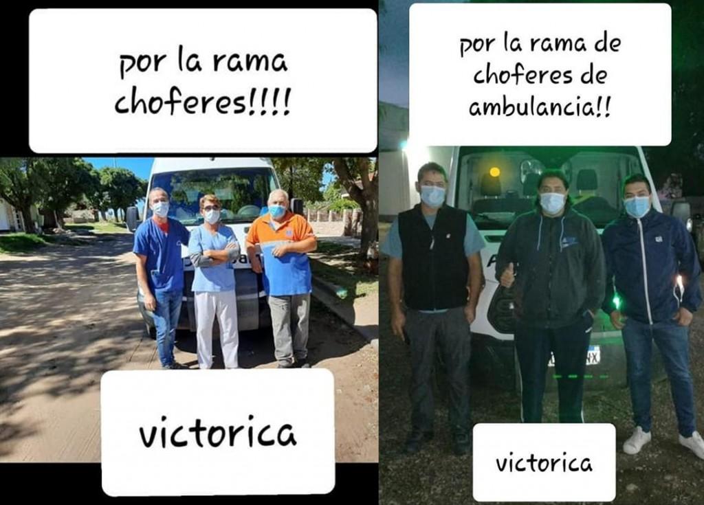 VICTORICA: POR LA RAMA DE CHOFERES