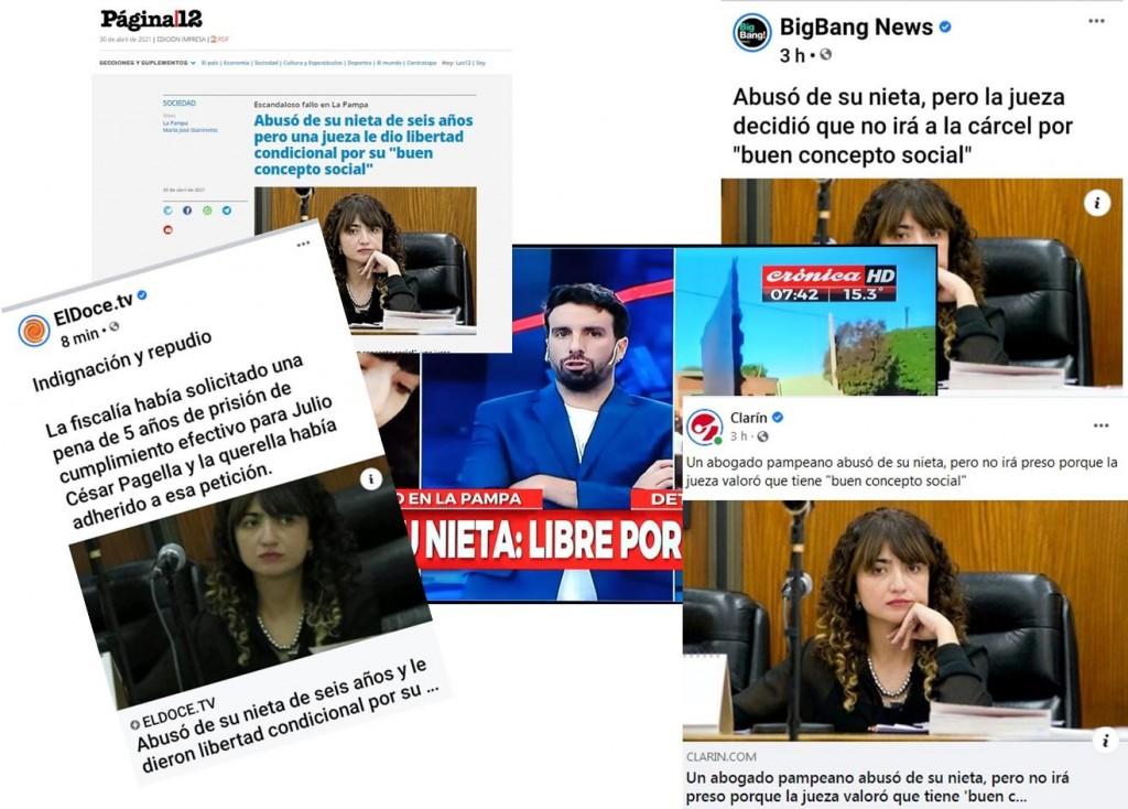MEDIOS NACIONALES REFLEJAN EL ABUSO EN VICTORICA Y EL FALLO DE GIANINETTO