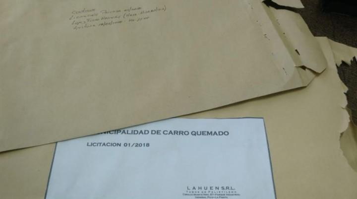 CARRO QUEMADO: Apertura de sobres para la renovación red de agua PROPAYS