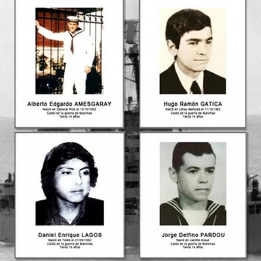 A 39 años del hundimiento del ARA General Belgrano, recordamos a los cuatro jóvenes héroes pampeanos que perdieron sus vidas