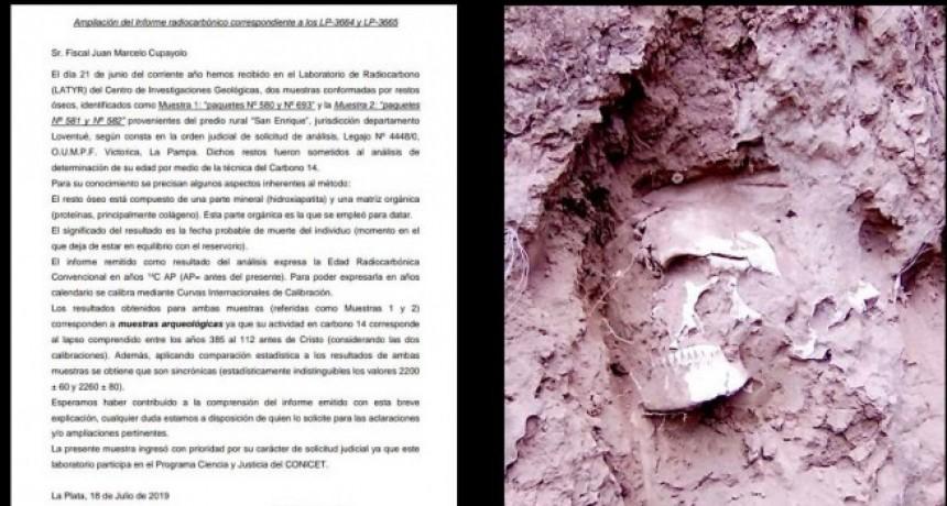 La Secretaría de Cultura de La Pampa se hará cargo de la conservación de los restos humanos encontrados en Telén.