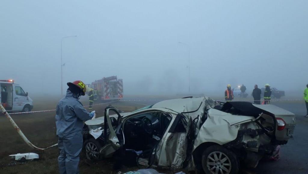 Grave accidente en el cruce de Winifreda, 1 muerto