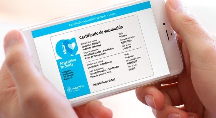 En La Pampa ya se puede sacar el certificado de vacunación online