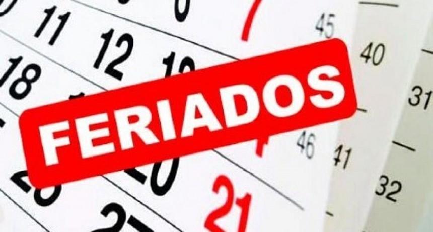 Feriado del 20 de agosto y día no laborable el 30 de agosto