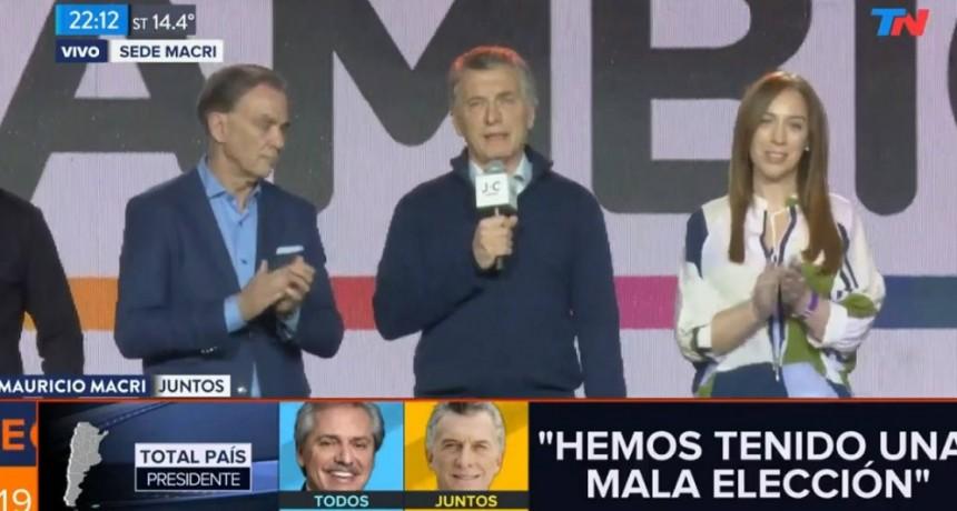 Macri reconoció la derrota: Hemos tenido una mala elección, vayan a dormir ...(les dijo a los presentes)