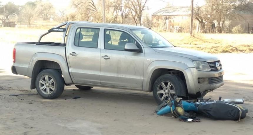 Accidente en calle 10 esq 7