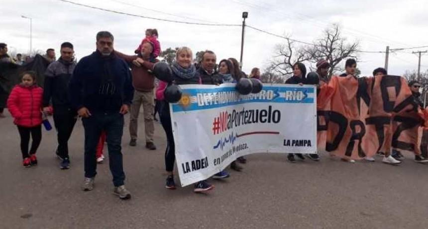 Manifestación en pueblos de cuatro provincias en contra de Portezuelo del Viento