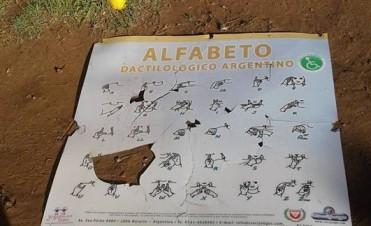 Vandalismo en una Plazoleta