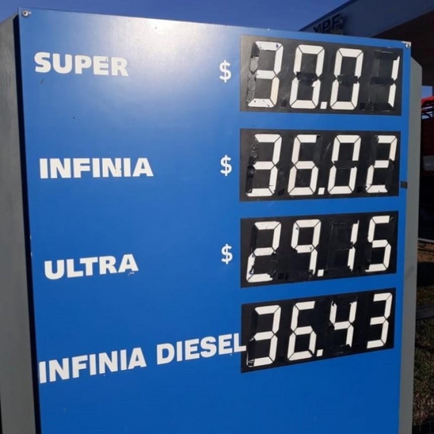 Aumento de nuevo el combustible