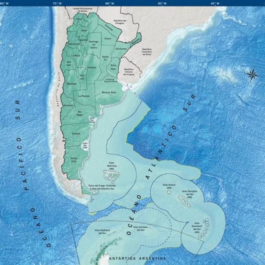 El nuevo mapa de la Argentina: con la incorporación de la Antártida, el país pasa a ser bicontinental