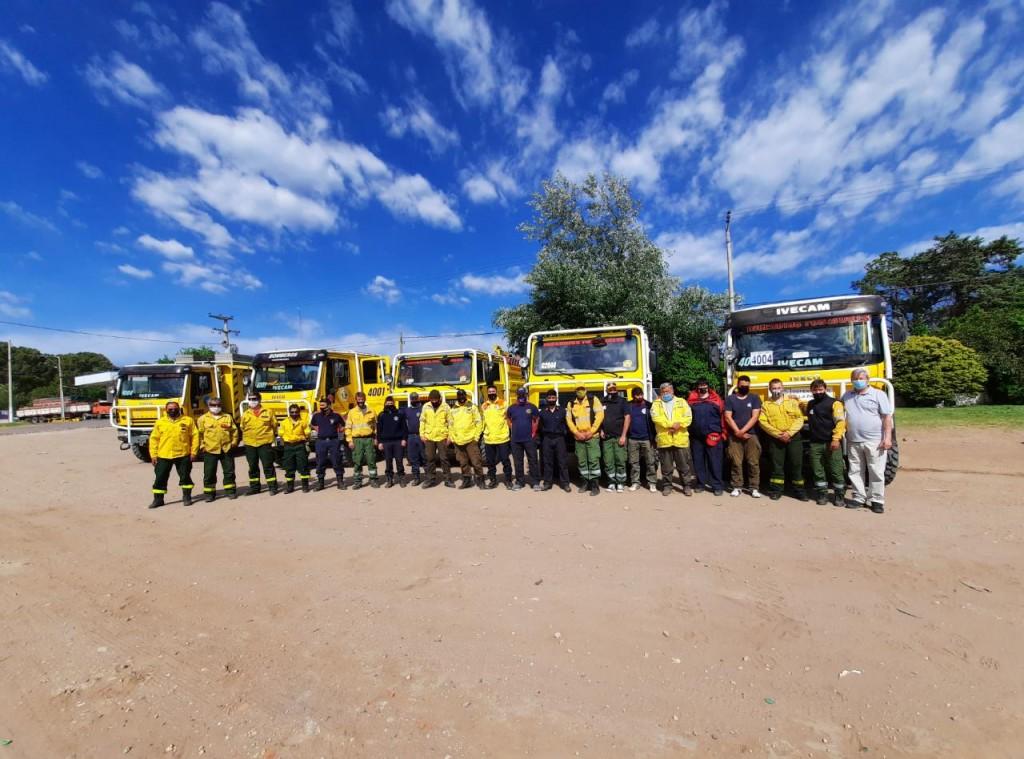 Bomberos victoriquenses viajaron a combatir los incendios en Córdoba