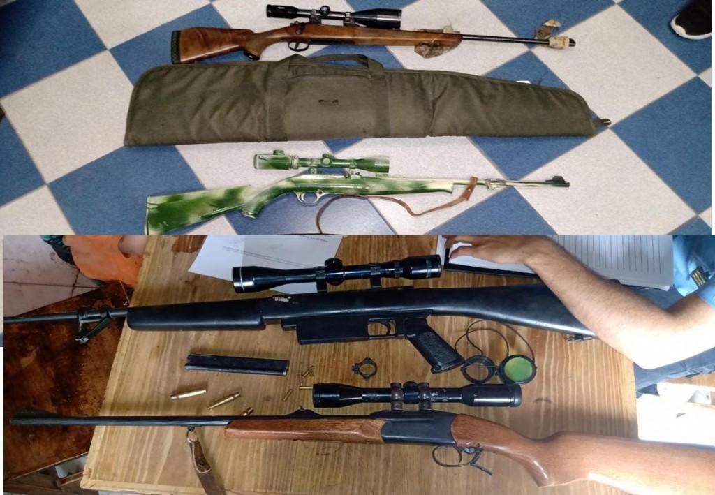TELEN: RECUPERAN ARMAS DENUNCIADAS, UN DETENIDO