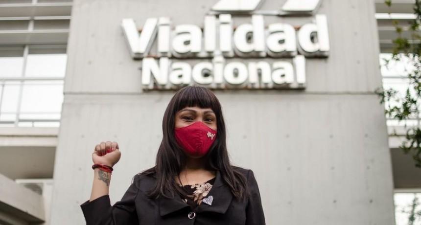 Vialidad Nacional incorporó a la primera trabajadora trans