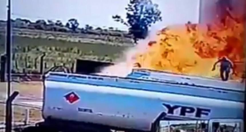El momento exacto de la explosión en Ingeniero Luiggi