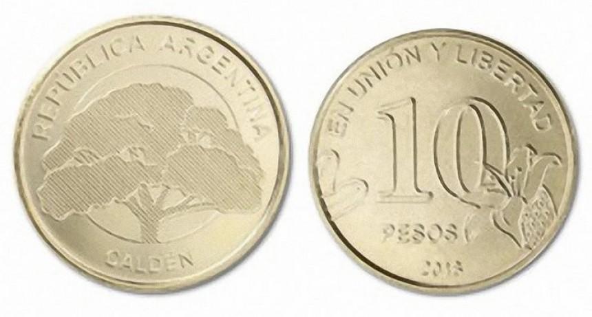 El Calden presente en la Moneda de $10