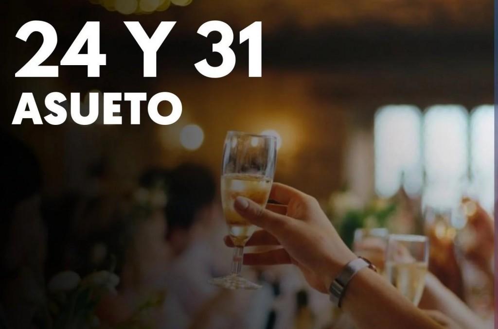 Los días 24 y 31 de diciembre será asueto para los estatales pampeanos
