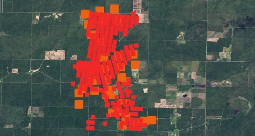 El mapa satelital del incendio en Carro Quemado: avanzó 12 kilómetros y fue contenido